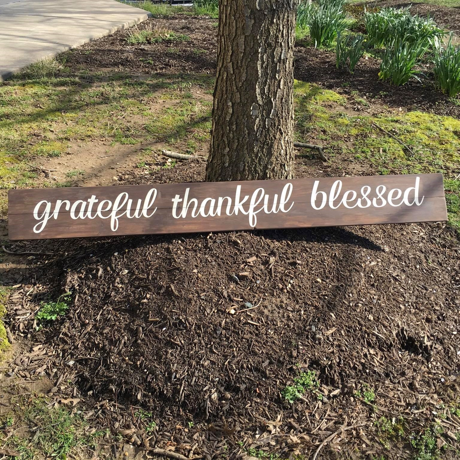 Grateful Thankful Blessed (long) #0105