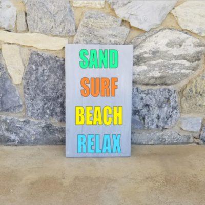 sand surf beach relax